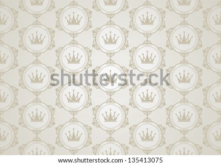 background retro: wallpaper, pattern, seamless, vector, vintage  background texture - stock vector