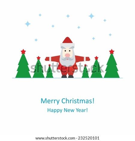 Background Santa Claus - Merry Christmas! - Happy New Year!