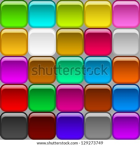 Background seamless, abstract modern geometric design for web with glass color squares. Vector eps10, contains transparencies - stock vector