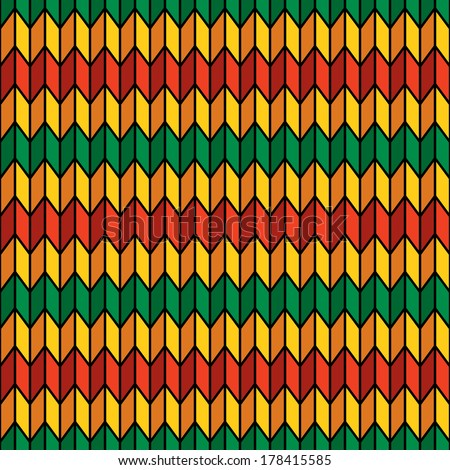 Background seamless pattern in rasta colors vector - stock vector