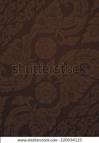 background Seamless Thai art Pattern. background with a contemporary design and modern thailand.