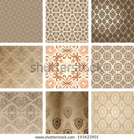 Background set - stock vector