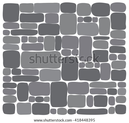Background Stone Wall ,Vector illustration - stock vector