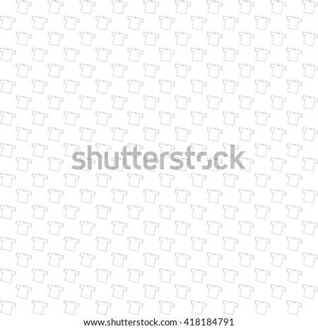 Background t-shirt vector illustration. Template t-shirt. Seamless pattern with t-shirts.Bright white background - stock vector