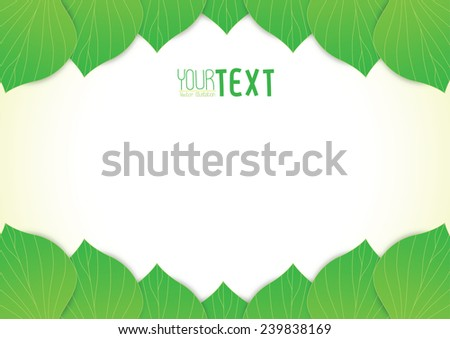 Background text leave vector illustration - stock vector