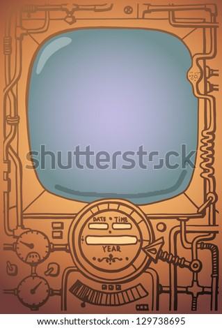 background, the old mechanism - stock vector