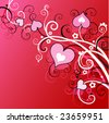 background valentine`s day - stock vector
