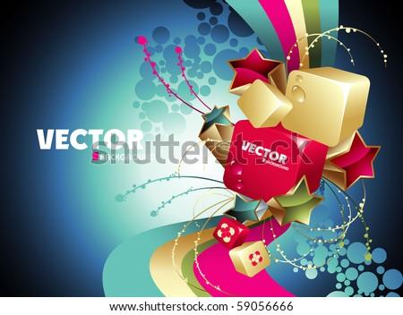 background vector - stock vector