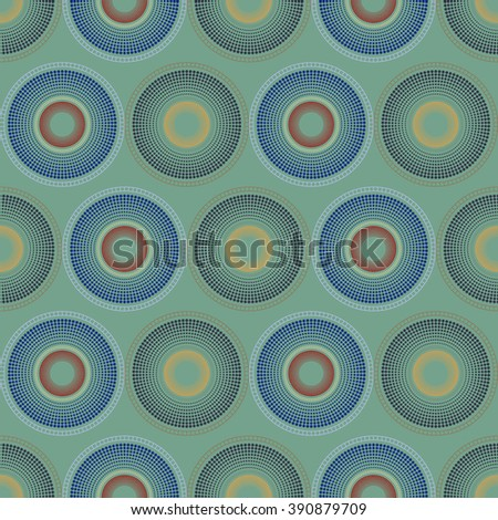 Background vector illustration seamless pattern of colored circles.