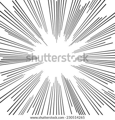 background vector  monochrome comic book explosion with star burst - stock vector