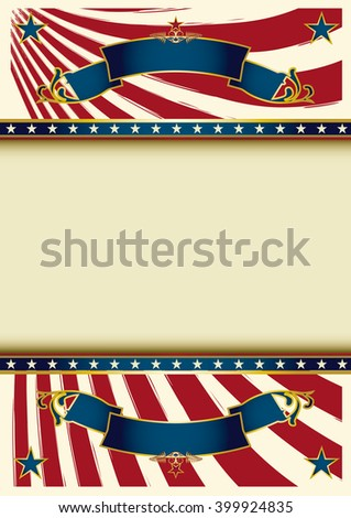 Background vintage USA. An american background with a frame for your text