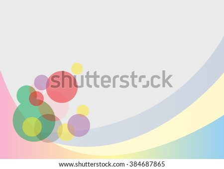 Background wallpaper illustration dots circles bubbles abstract design