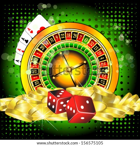 background with a casino roulette  - stock vector