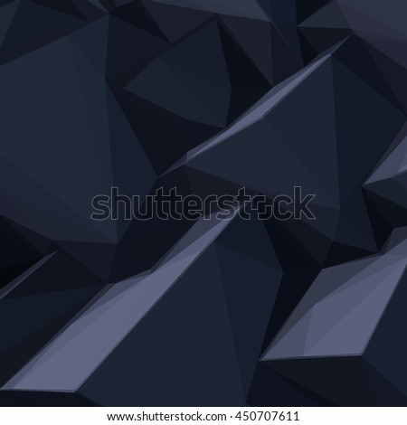Background with abstract cartoon styled black cubes - stock vector