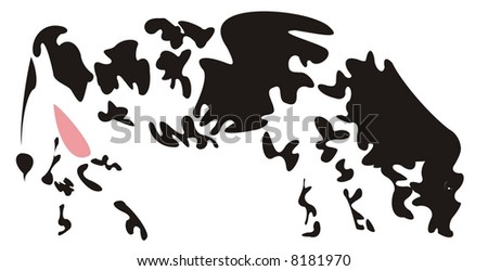 Background with abstract cow skin texture