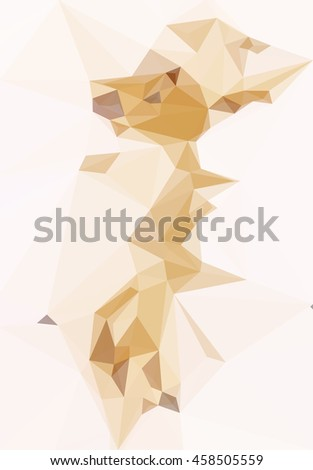 Background with Abstract Low Poly Geometrical Pattern. Vector - stock vector