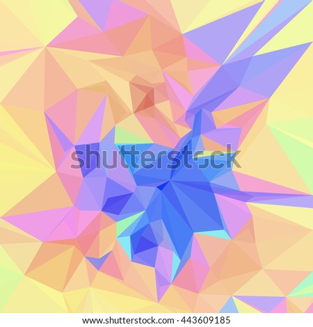 Background with Abstract Low Poly Polygonal Geometrical Pattern. Vector - stock vector