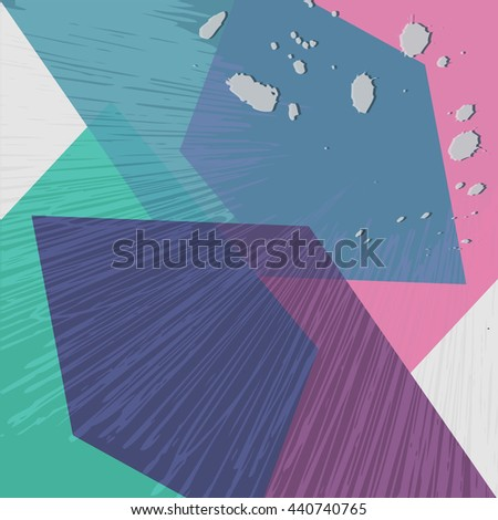 Background with Abstract Poly Geometrical Colorful Pattern. Vector