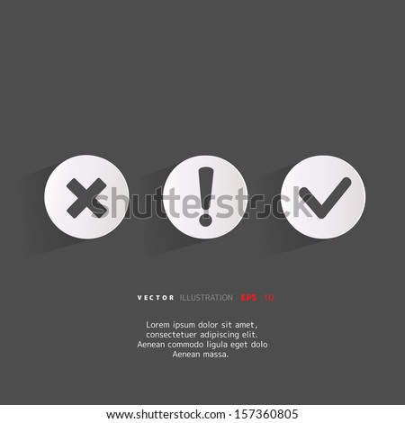 Background with attention web icons - stock vector