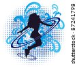 Background with beautiful girl.Eps10 vector element can edit. - stock vector