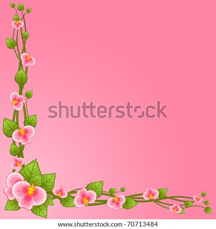 Background with beautiful orchids