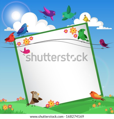 background with birds