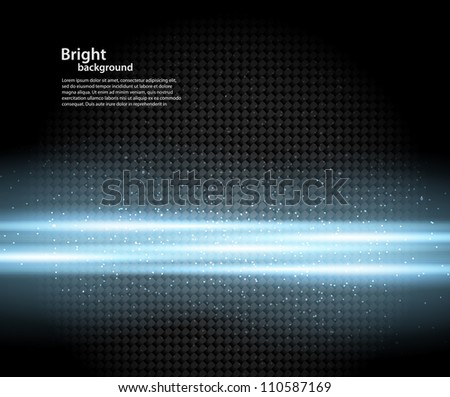 Background with blue rays - stock vector