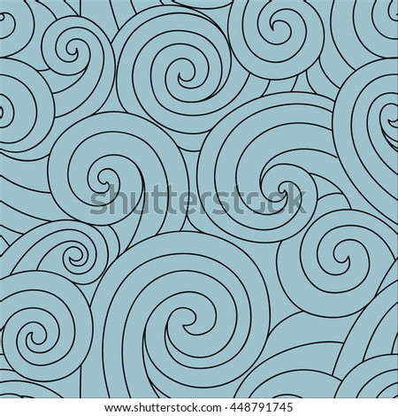 Background with blue waves - stock vector