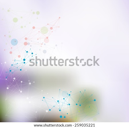 Background with bokeh - stock vector