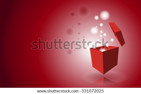 Background with box