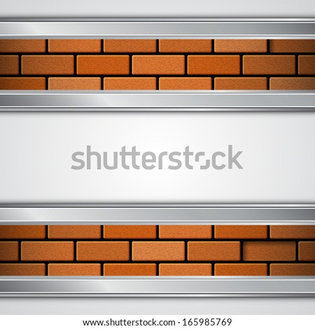 Background with brick wall. EPS10 vector