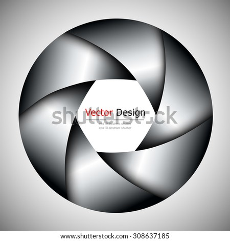 Background with camera lens shutter, vector illustration. - stock vector