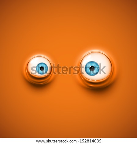 Background with cartoon eyes. Eps 10 - stock vector
