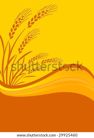 background with cereal crop - stock vector