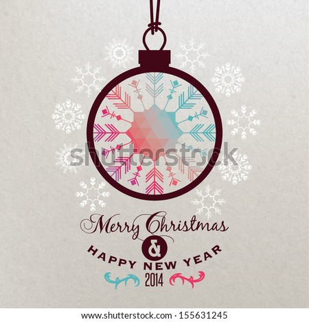 Background with Christmas ball  - stock vector