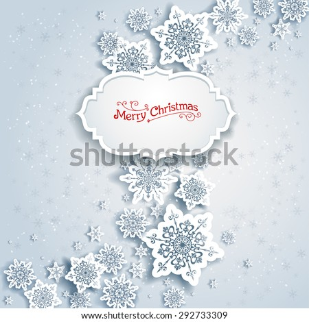 Background with Christmas decorations for banners, advertising, leaflet, cards, invitation and so on. - stock vector