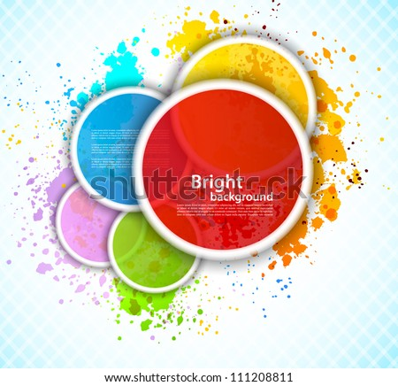 Background with circles - stock vector