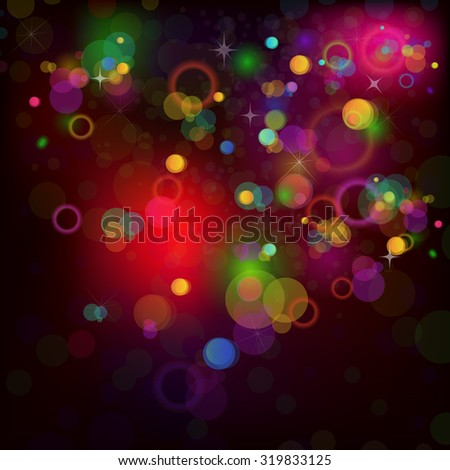 Background with circles colorful glow. Vector - stock vector