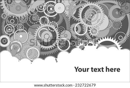 Background with cogwheels a clockwork. Macro, extreme closeup. Clock mechanism - stock vector