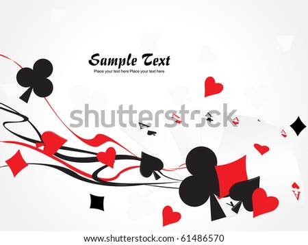 background with collection of playing cards - stock vector