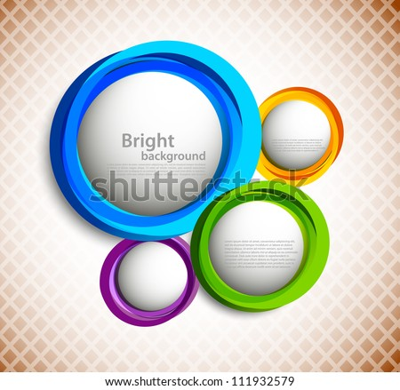 Background with colorful circles - stock vector