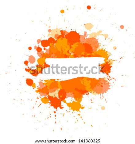 Background with colorful spots and sprays. Vector illustration.  - stock vector