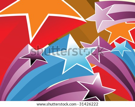 background with colorful star, vector wallpaper