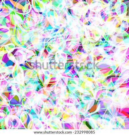 background with colors flowers - stock vector