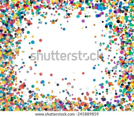 Background with confetti in red and green. colored confetti vector - stock vector
