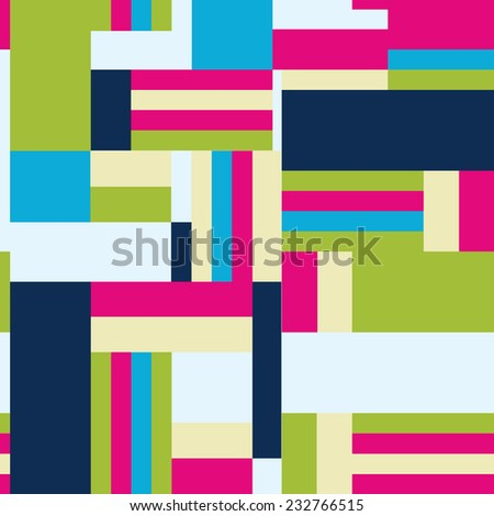 Background with decorative geometric and abstract elements. Vector illustration. - stock vector