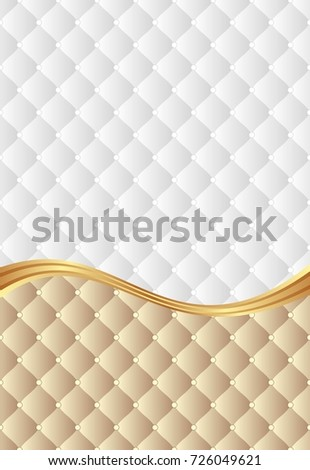 background with decorative pattern divided into two