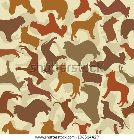 background with dogs - stock vector