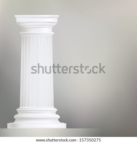 background with doric column , classic style - stock vector