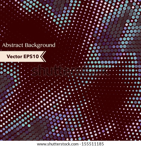 Background with dot mosaic in retro colors. - stock vector